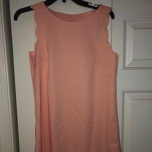 Scalloped edges dress